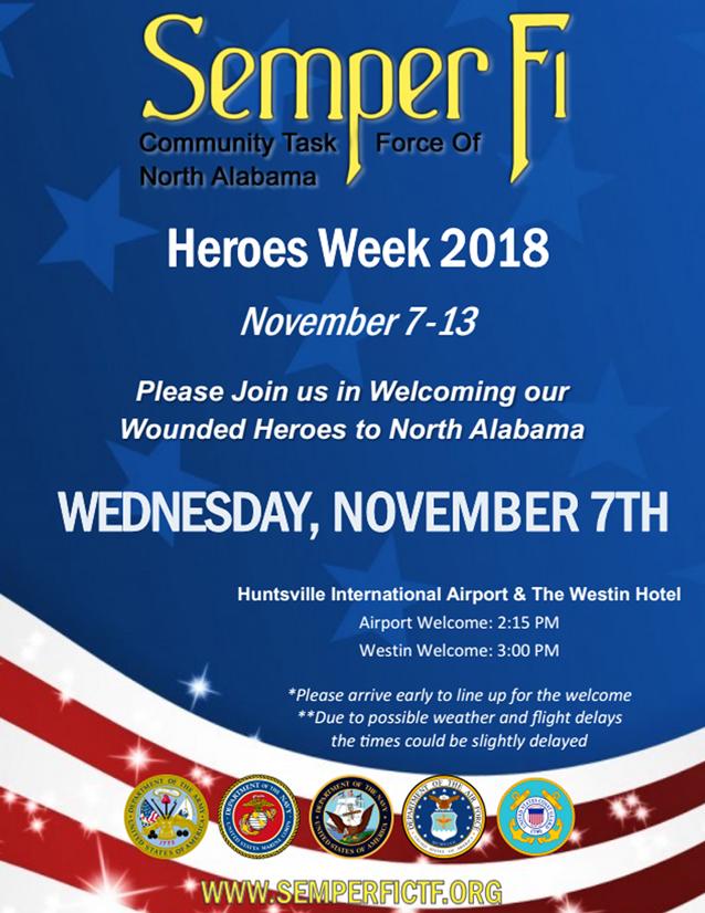 Heroes Week 2018 Flyer