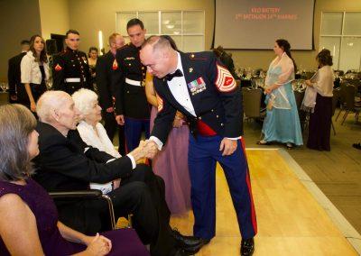 Marine Corps Ball 2018 WWII Vet